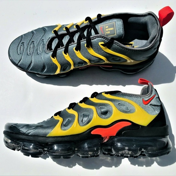 quality design 100% authentic coupon codes Nike Shoes | Air Vapormax Plus Grey Team Orange Yellow | Poshmark